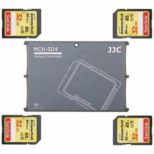 JJC 'MCH-SD4GR' Memory Card Holder - 4 SD