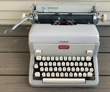 Vtg 50s 60s ROYAL FP Typewriter Working Condition GRAY Mid Century