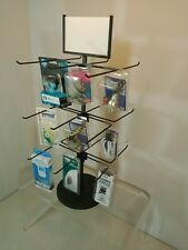 Counter Small Product Display Spinning Rack - 3 Tier 18 Peg (Black)