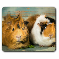 Computer Mouse Mat - Cute Fluffy Guinea Pig Animals Pets Office Gift #8477