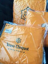 VEUVE CLICQUOT CHAMPAGNE YELLOW  CUSHION 36 CMS  SQUARE  X 3  CUSHIONS NEW