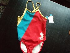 New listing Junk Food Girl's Disney Mickey Mouse One Piece Swimsuit ~ Size Xs ~ New