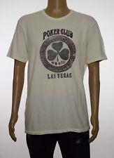 Lucky Brand Mens White Poker Club Graphic T-Shirt XL