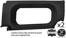 Black Stitch 2X vitre arrière garniture latérale couvre pour Defender 90 110 Station Wagon