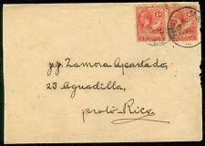 ANTIGUA : 1922 Interesting Destination cover to Puerto Rico.