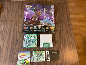 Pokemon Emerald Version (Nintendo GameBoy Advance, GBA) -- Complete -- Authentic