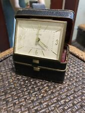 Rare Swank Travel Alarm Clock Box With Compartment Of Love Notes