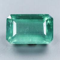 22x14 mm. Sweet gem Natural 36.15 Ct.Baguette Green Fluorite Africa/ S4572