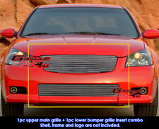 Fits Nissan Altima SER Billet Grill Combo 05-06
