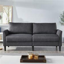 Upholstered Sofa Couch Linen Fabric Loveseat Modern Living Room Sofa 75.5'' Gray