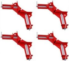 """Set Of 4 Corner Clamps 90° Angles 3"""" Clamp Capacity Woodworking Vise Miter"""