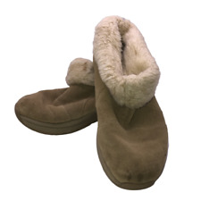 Therashoe Women's Size US 6 EU 37.5 Beige Suede Ankle Boots Fur Lined Booties