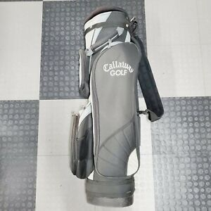 Callaway Golf 5 Way Cart Carry Golf Bag Genuine Authentic Blue Black Padded stra