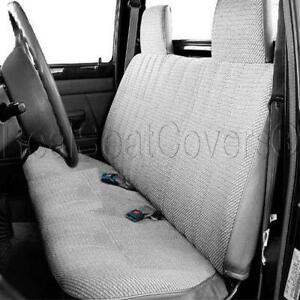 A23 GR Gray RCab XCab Solid Front Bench Grey Seat Cover for Tacoma