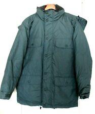 Cabelas Premier Northern Goose Down Winter Parka Hooded Jacket Mens L Green