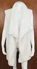 Aerie Womens Ivory Fluffy Oversized Vest Size XS/S Lined