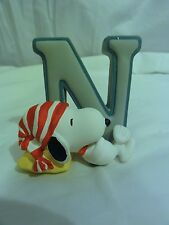 "Peanuts Westland Snoopy Charlie Brown "" Alphabet Letter N "" Figurine Numbered"