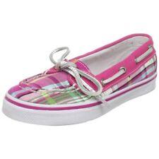 SPERRY TopSider Bahama Hot Pink Plaid Skimmer Boat Shoes NIB Girls Sz 13.5