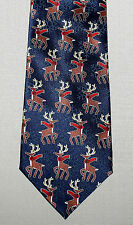 4 x 60 Reindeer Necktie Red Scarves Christmas Winter Blue Tie Snowflakes FN