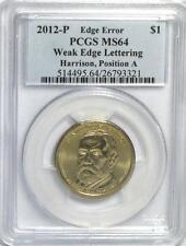 2012-P Harrison Weak Edge Lettering Error PCGS MS64 POS A