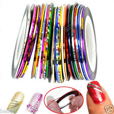 10X Colorful French Rolls Striping Manicure Nail Art DIY Neon Line Foil Tapes A