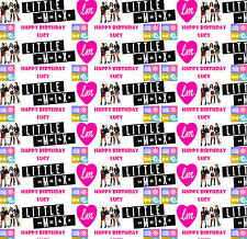 Personalised Gift Wrapping Paper Little Mix Birthday Any Name Lmbp1f
