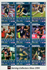 2007 AFL Teamcoach Blue Platinum Trading Card Team Set Carlton (12)