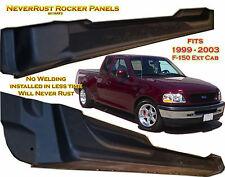 99 03 Ford F150 Extended Cab NeverRust Rocker Panel set fits 4 door No Welding!!