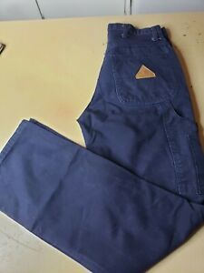 Bulwark Flame Resistant Clothes FR Pants Duck Dungarees Industrial Work 30x32