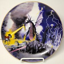 Sleeping Beauty MALEFICENT as Fire Breathing Dragon  - Disney Collector Plate