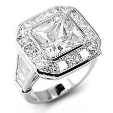 Solitaire with Accents Radiant Costume Rings
