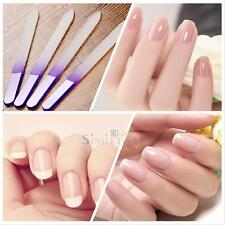 4x Durable Crystal Glass File Buffer Nail Art Files Manicure Device Pro Tool New