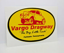 Vargo Dragway Vintage Style DECAL, Vinyl car STICKER, racing, hot rod, rat rod