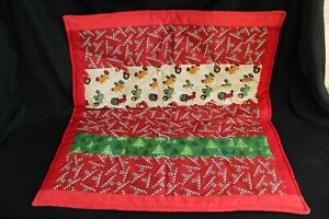 Handmade Farmall Mccormick Red Baby Quilt Tractor Quilt