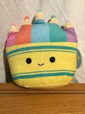 """SQUISHMALLOW CADE THE CRAYONS PACK 8"""" BACK TO SCHOOL SQUAD IN HAND VHTF NWT"""