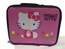 HELLO KITTY SANRIO BAG LUNCH BAG RED PINK VINYL NYLON