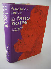 1st Edition A FAN'S NOTES Frederick Exley FICTION Memoir 2nd Printing CLASSIC