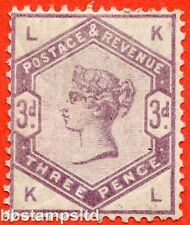 """SG. 191. K21. """" KL """". 3d Lilac. A fine mounted mint example."""