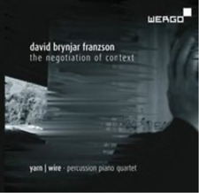 David Brynjar Franzson: The Negotiation of Context  CD with DVD NEW
