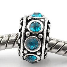 December Birthstone Spacer Bead Charm for european snake chain charm Bracelet