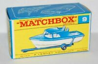 Matchbox Lesney No 9 Cabin Cruiser style F empty Repro Box