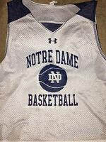 M - NOTRE DAME Mens Under Armour Heat Gear Loose Mesh Reversible Basketball Top