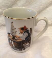 Norman Rockwell Museum Mug Cup For A Good Boy 1982 Seal Of Authenticity Vintage