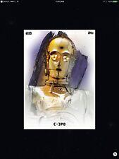 STAR WARS CARD TRADER - THE LAST JEDI - PREMIERE PORTRAITS - C-3PO