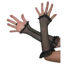 Black Fishnet Fingerless Gloves, Fancy Dress 2290601