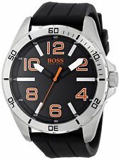 Hugo Boss Orange Men's 1512943 Big Time Black Silicone Strap Quartz Watch