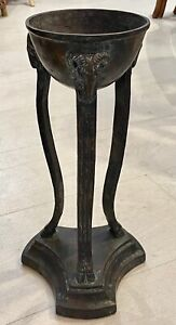 Maitland Smith Tall Bronze  Rams head Hoof Feet Chalice