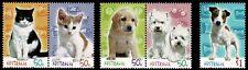2004 AUSTRALIA Cats & Dogs (5) MNH