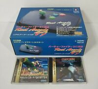 Sega Saturn V7 Real Arcade Joy Stick Fight Controller Pad Hori 2 Games Boxed