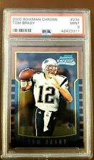 2000 Tom Brady Chrome Rookie PSA 9 MINT Bowman #236 RC Card New England Patriots